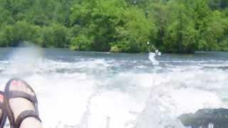 Tubing the Hiwassee River in Reliance, TN - Class III rapid