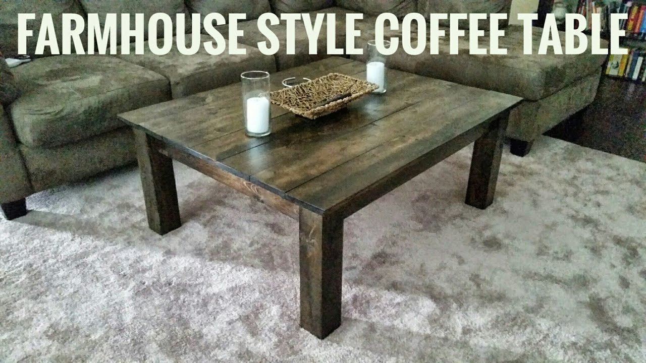 Make A Farmhouse Style Coffee Table