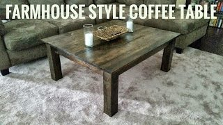Making A Farm Style Coffee Table
