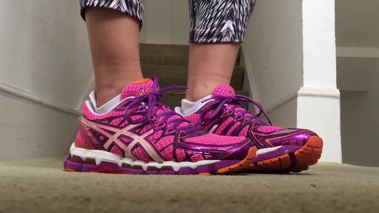 a40d56392c78 Women s ASICS Gel Kayano 20 (Pink Purple Orange) - YouTube