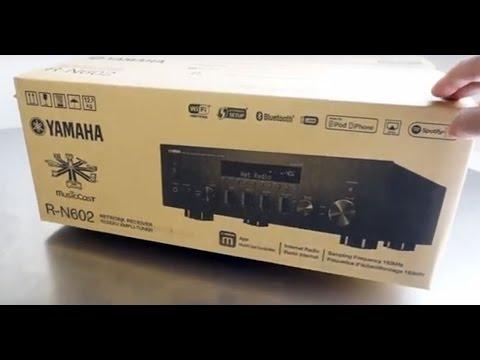yamaha r n602 network receiver unboxing youtube. Black Bedroom Furniture Sets. Home Design Ideas