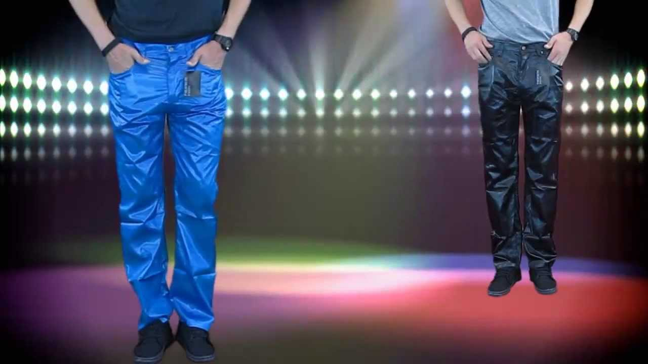 how to make jeans shiny