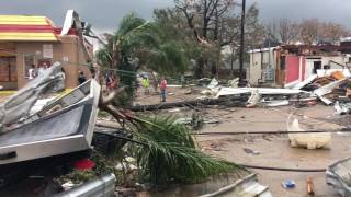 Tornado damage in New Orleans East - 360 view