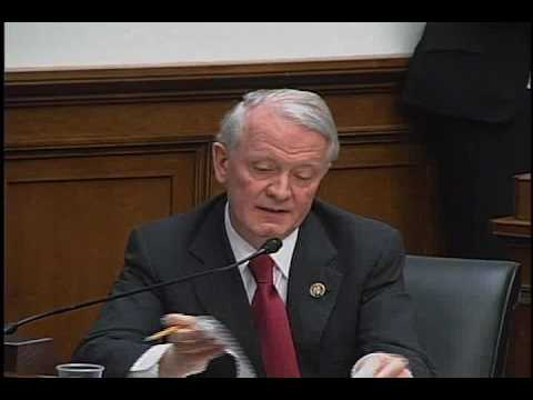 Congressman Leonard Lance questions the Treasury Secretary at the House Financial Services Committee