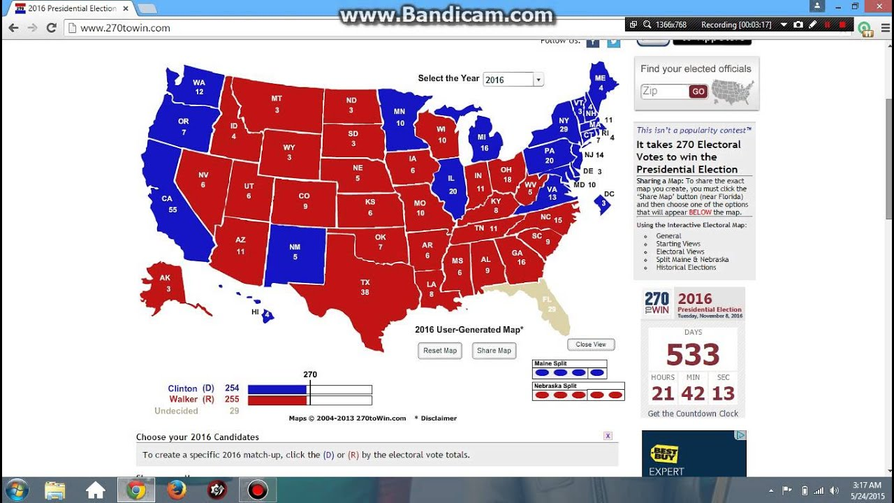 Us election map prediction