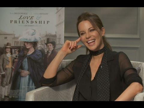 KATE BECKINSALE | BEST FLIRT EVER | LOVE & FRIENDSHIP INTERVIEW | Karaoke, Corsets, All About Eve