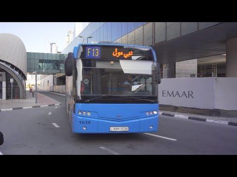 United Arab Emirates, Dubai, bus F13 ride from Burj Khalifa/Dubai Mall to  Dubai Mall