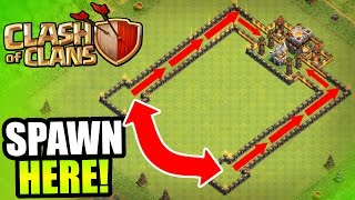 "Clash Of Clans - ""NEVER SEEN BEFORE!"" - EPIC DUAL BLACK HOLE TROLL BASE!!"