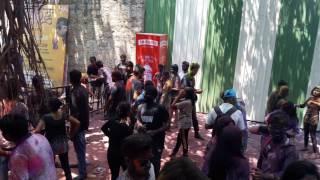 Holi celbration dance dj music at pebbles bangalore....