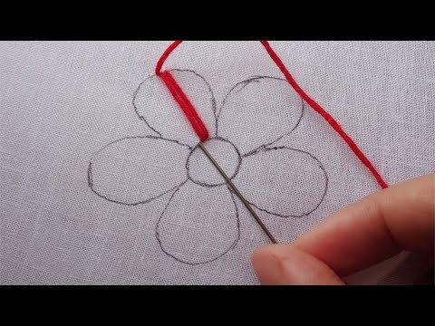 hand embroidery easy flower design,modern flower embroidery