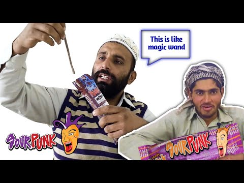 Tribal people Try Sour Sweets First Time In Life | Villager Eat Sour Candy | Tribal Eatz