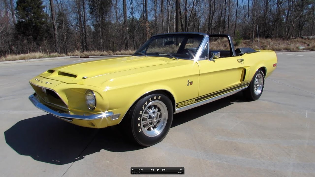 1968 Shelby Cobra Gt500 Kr Convertible Start Up Exhaust