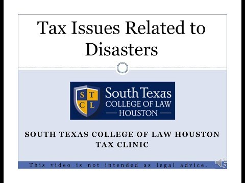 Tax Issues Related To Natural Disasters