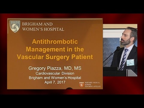 Antithrombotic Management in the Vascular Surgery Patient