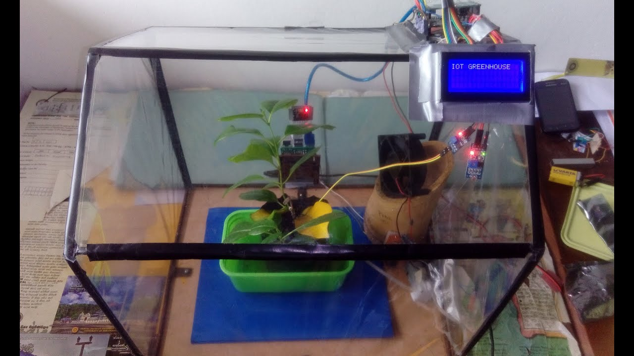 Iot greenhouse embedded project youtube