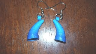 54. Shaded Horn Shaped Paper Quilling Earrings Tutorial