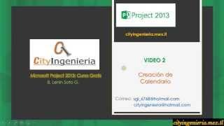 ms project 2013 2 7 creacin y asignacin de calendario