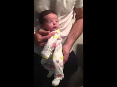 Baby dancing very small newborn baby first dance