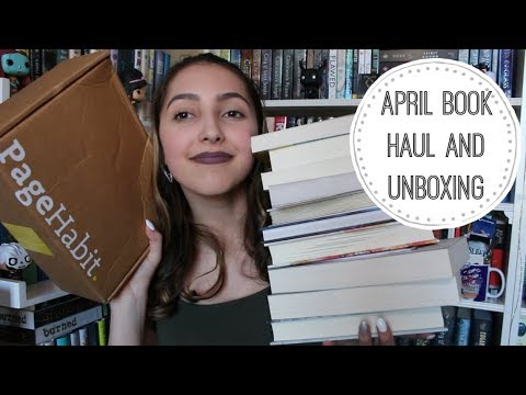 april 2018 book haul & pagehabit unboxing //