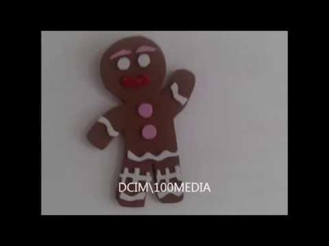 Galleta de navidad con plantilla de goma eva - YouTube