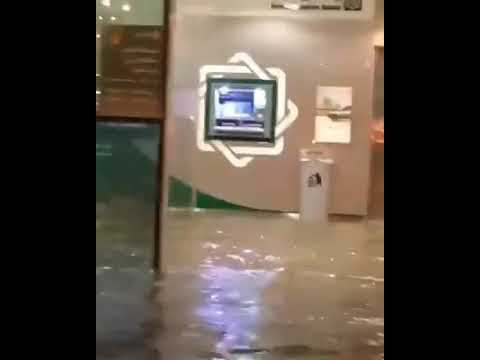Flood water in Kuwait 🇰🇼 financial bank