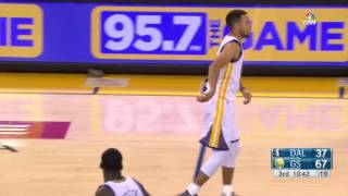Steph Curry hurts ankle MAVS @ Warriors 11-9-16