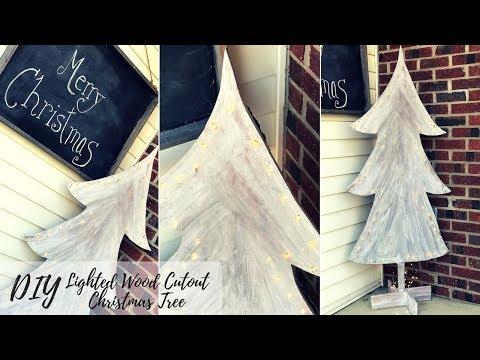DIY OUTDOOR CHRISTMAS DECOR COLLAB WITH ARACELI CHAN LIGHTED WOOD CHRISTMAS TREE