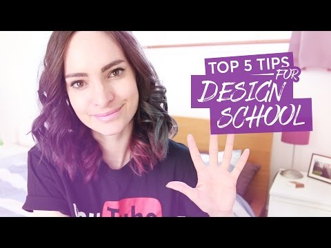 How to make the most of design school - Top 5 tips | CharliMarieTV