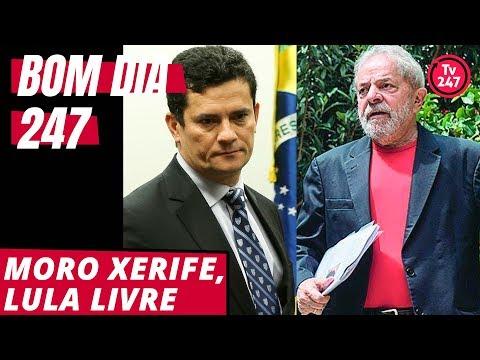 Moro xerife, Lula livre. Bom dia 247 (1/11/18)