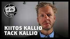 Kiitos Tomi Kallio! Tack Tomi Kallio! – även på svenska