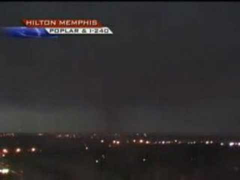 Tornado Bears Down on Memphis