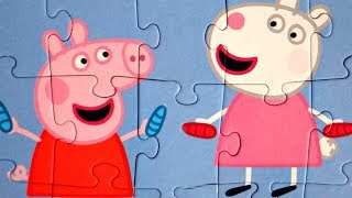 Свинка Пеппа и Сьюзи - Прыгалки и счеты - собираем пазлы для детей свинка пеппа
