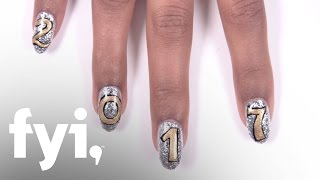 Holiday Nail Art Tutorial New Year 39 s Eve Countdown Nails FYI
