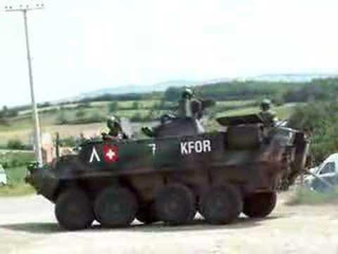 KFOR Schweizer Armee Piranha
