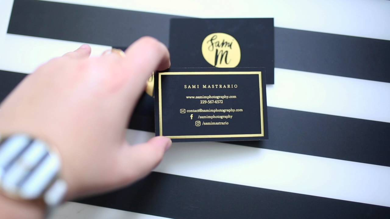 Samim photography gold foil business cards youtube samim photography gold foil business cards reheart Image collections