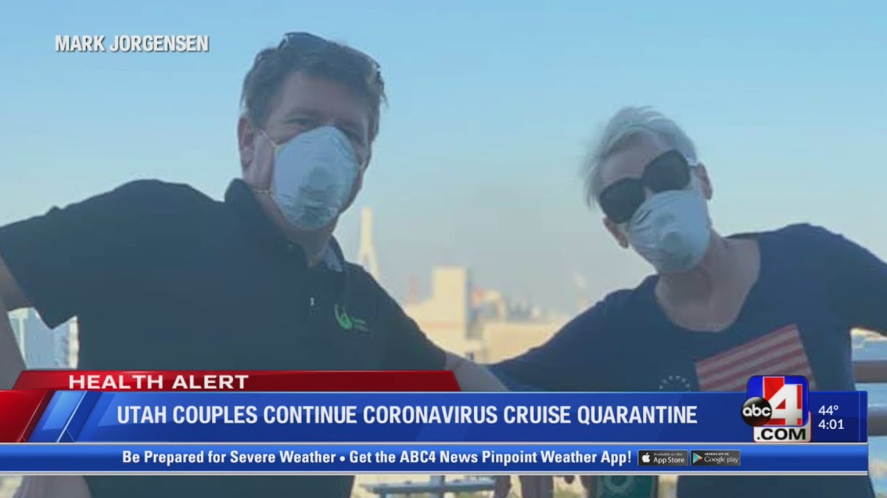 Utah couples hit day 9 of coronavirus quarantine on cruise ship