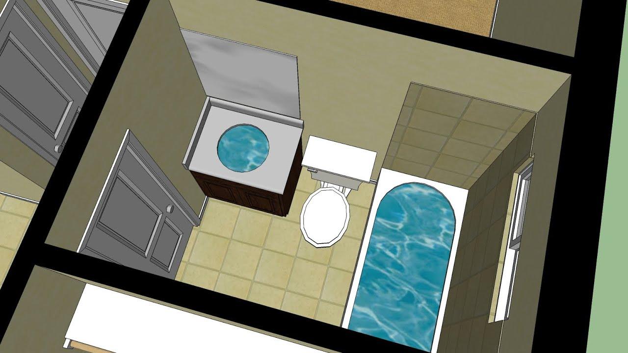 Sketchup House Tutorial PT  8 (Bathrooms)