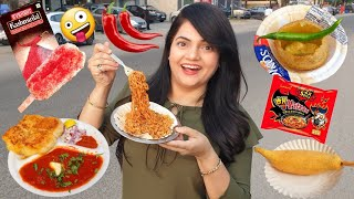 Living on SPICY FOOD for 24 HOURS Challenge | Food Challenge