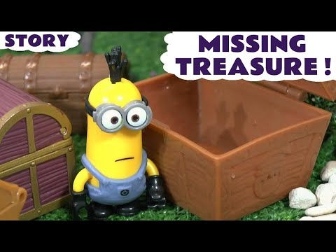 Thumbnail: Minions Funny Stolen Treasure Toy Story with Thomas and Friends and a Surprise Egg ToyTrains4u