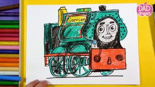 How to draw Samson from the Thomas & Friends