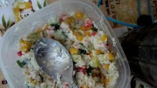 Рецепт салата из крабовых палочек часть 1