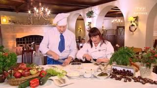 Rączka gotuje - hekele, rumsztyk cielęcy z cebulką i karmelizowane śliwki