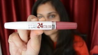 Maybelline New York Superstay 24 Color 2 Step Lipstick | Review and Swatch | Nidhi Katiyar