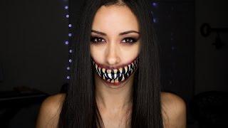 Creepy Mortal Kombat Mileena Mouth Tutorial | Halloween Face Paint How-To