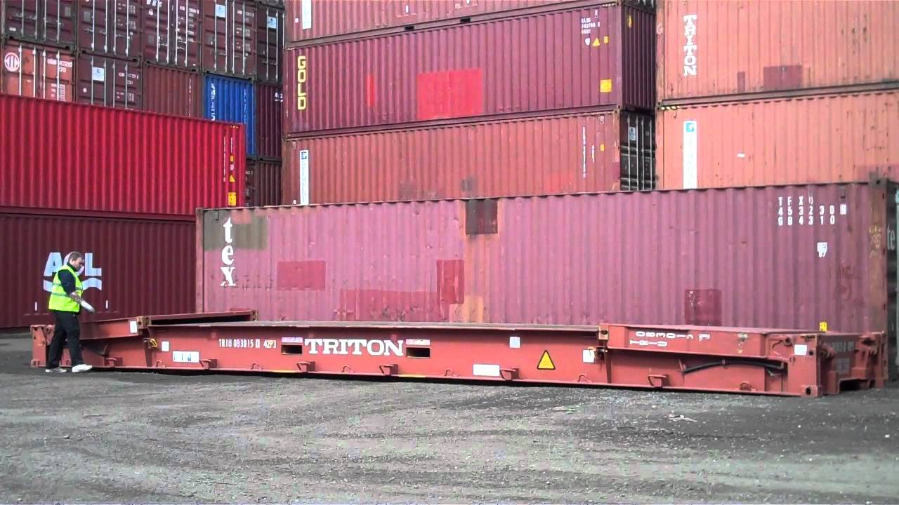 40ft Shipping Container >> 40ft collapsible flat rack shipping container www ...
