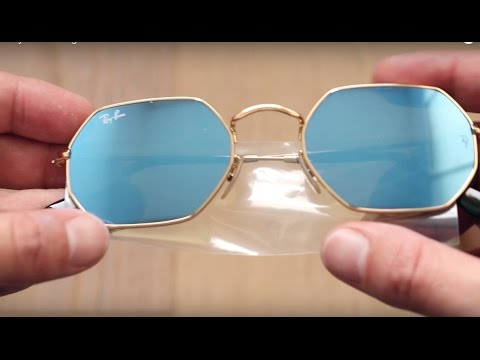 7dc95f83291 Ray Ban Octagonal Flat Lenses - YouTube