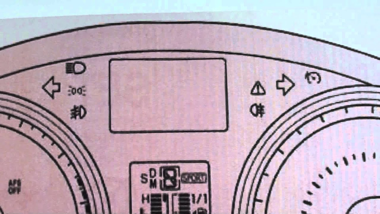 Toyota Avensis T270 Dashboard Warning Lights  Symbols  Code