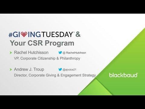 Blackbaud Customer Video: #GivingTuesday & Your CSR Program