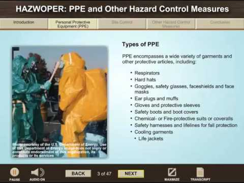 HAZWOPER   PPE and Other Hazard Control Measures Course Preview