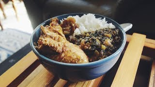 COOK AFRICAN CUISINE WITH ME! CHICKEN STEW AND SPICY SPINACH CONGOLESE COOK